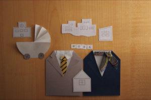 折り紙のスーツ