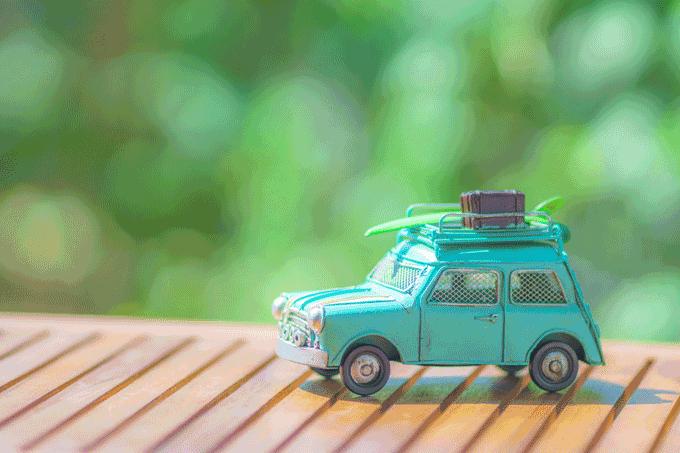 ミニカーのドライブ