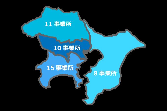 ココルポ-トの首都圏の事業所マップ
